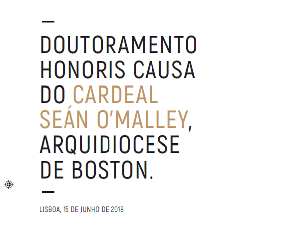 Doutoramento Honoris Causa do Cardeal Seán O'Malley, Cardeal de Boston